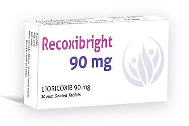 """دواء ريكوكسيبرايت 90 مجم """"Recoxibright 90mg"""" لعلاج التهاب المفاصل والألم"""