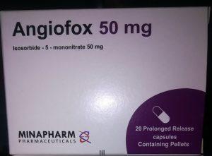 """كبسولات أنجيوفوكس 25 و50 مجم """"Angiofox"""" لعلاج أمراض القلب (بديل إيفوكس)"""