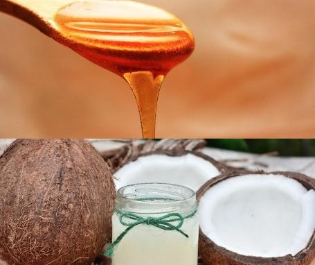 تركيبة قناع زيت جوز الهند والعسل